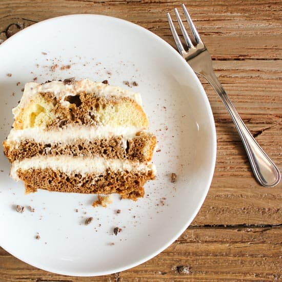 An Easy Tiramisu Recipe, the perfect creamiest filling for any base, lady fingers or cake. A delicious authentic Italian cake and cream filling recipe. anitalinainmykitchen.com