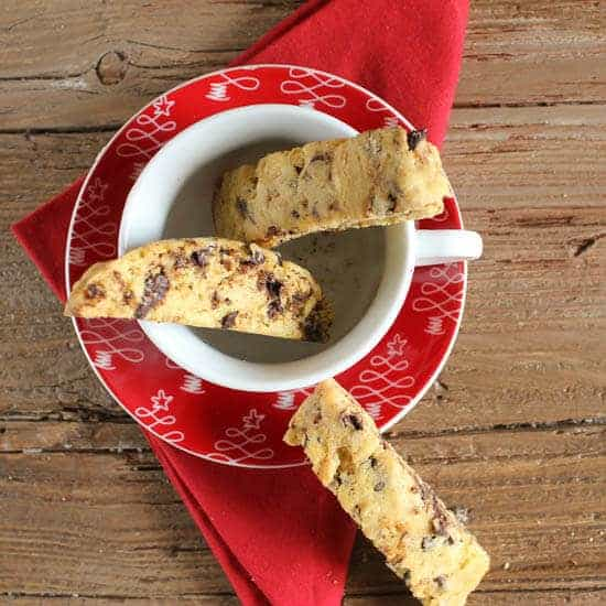 Mocha Almond Biscotti, an easy, delicious Italian cookie recipe,  almonds, coffee and chocolate make it the perfect holiday cookie.