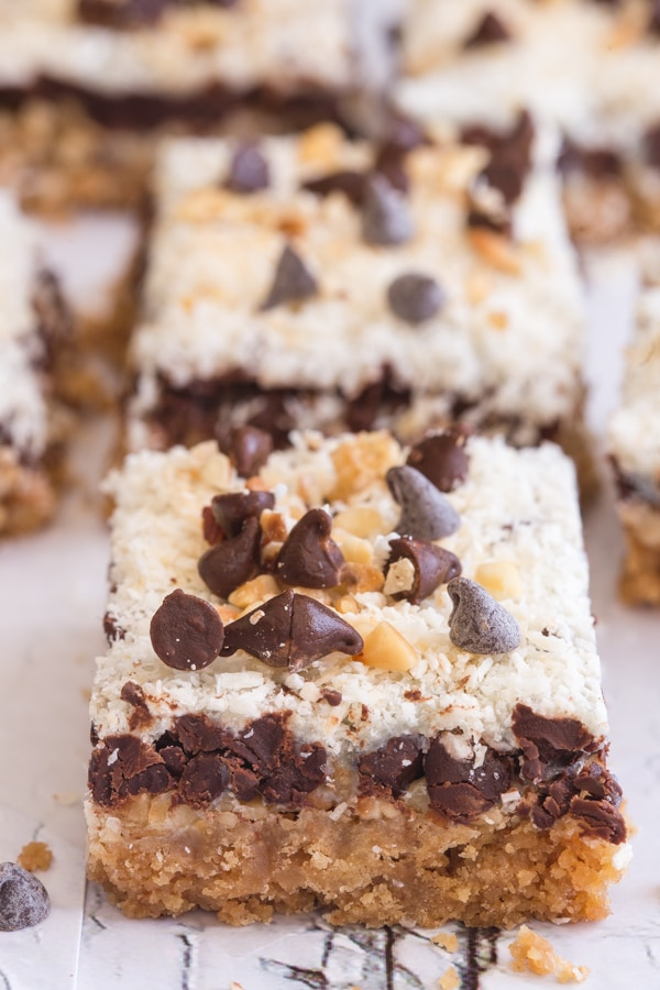 magic cookie bars one behind the other