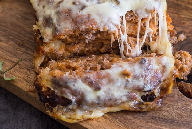 upclose photo of a slice of best meatloaf