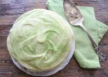 green velvet cake frosted