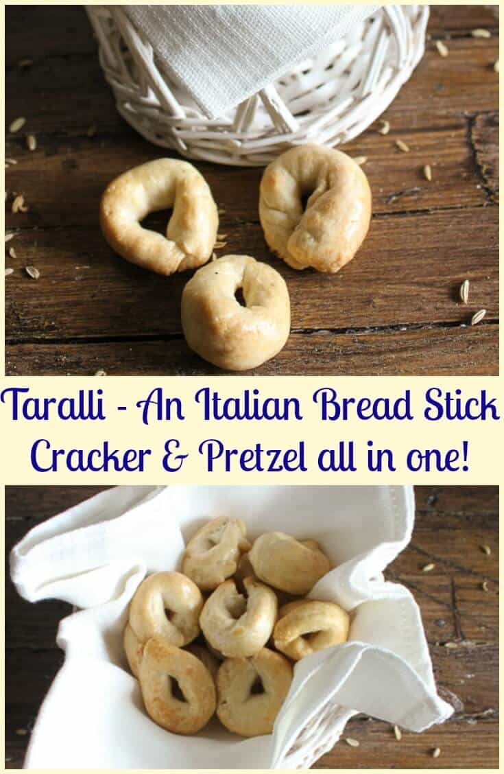 Italian Taralli, what is it? Almost like a cracker, bread stick and pretzel all rolled into one, but better. Totally addicting.