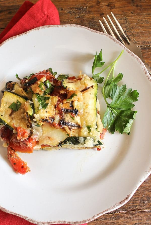 grilled zucchini and tomato cheese bake/anitalianinmykitchen.com