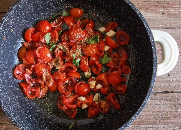 one pot easy Italian eggplant parmesan