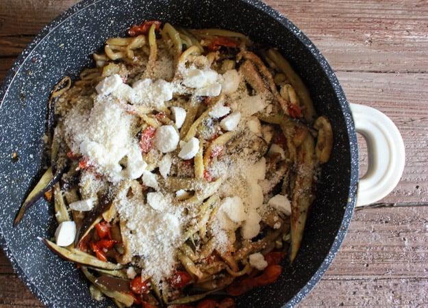 one pot Italian Eggplant Parmesan