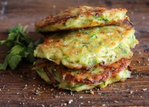 Zucchini Patties, 3 patties one on top of the other