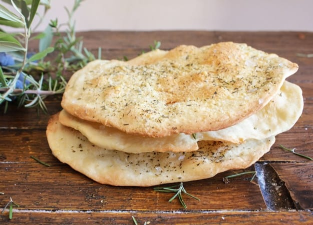 Thin Crispy Focaccia, an easy, crunchy Italian recipe, sprinkle it with your favorite seasonings. A perfect accompaniment to soup, stews etc  anitalianinmykitchen.com