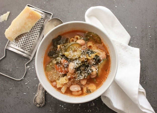 Italian Vegetable Soup, a delicious good for you full of veggies soup recipe, fast, easy,vegan and vegetarian the perfect comfort food soup.|anitalianinmykitchen.com