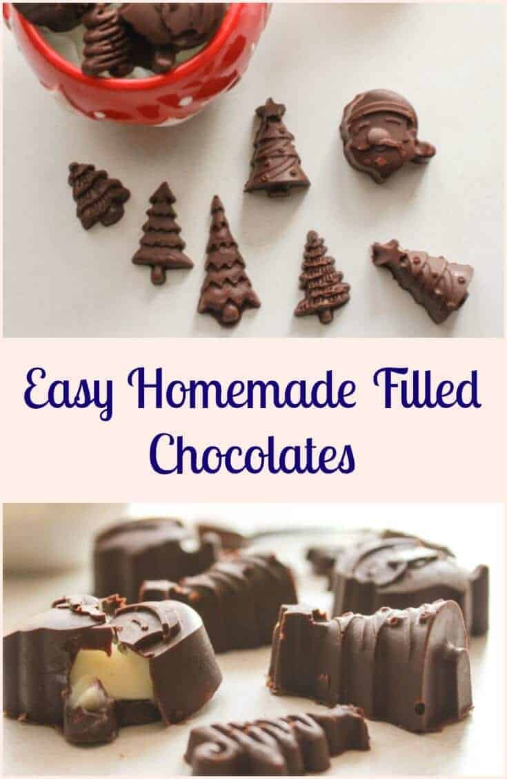 Easy Homemade Filled Chocolates - An Italian in my Kitchen