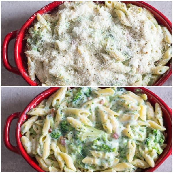 How to make creamy broccoli bacon pasta casserole photos