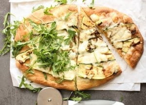 Grilled Zucchini Pizza, an easy delicious healthy pizza recipe, grilled zucchini and mozzarella cheese make it a family favorite.|anitalianinmykitchen.com