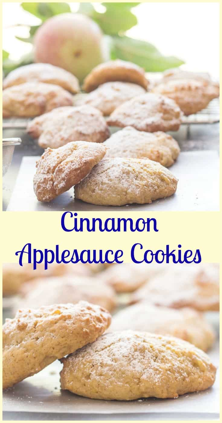 Cinnamon Applesauce Cookies, fast, easy and delicious #cookie #recipe. A moist almost #cake like kid friendly #cookie #snack.