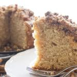Cinnamon Crumb Coffee Cake, an easy delicious Coffee Cake recipe.  A delicious crumb topping using leftover cake. Snack or Dessert. Enjoy.