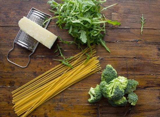 Spaghetti Broccoli Arugula and Pecorino, a delicious Italian Pasta recipe, fast, easy and healthy. A delicious combination.