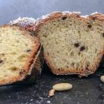 easter sweet bread a sliced piece