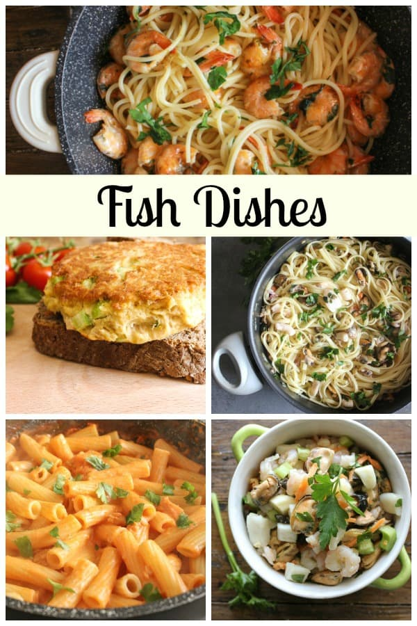 Fish Dishes, from appetizers to Pasta to Main Dishes, easy, simple and all delicious. Perfect for family dinner or guests coming for dinner. Enjoy!