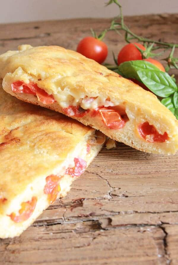 Homemade Stove top Pizza Calzone, no need to heat the house with this fast, easy and delicious summertime Italian pizza and calzone recipe.