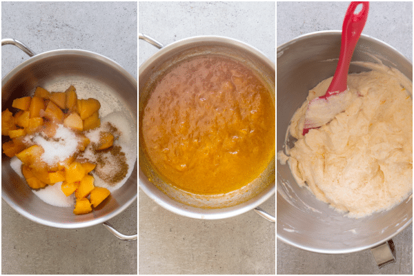 apricot cake how to make the apricot topping and mixing with whipped cream
