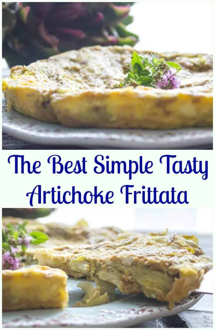 The Best Simple Tasty Artichoke Frittata, a fast, easy and healthy Italian egg recipe. A low carb skillet brunch idea.