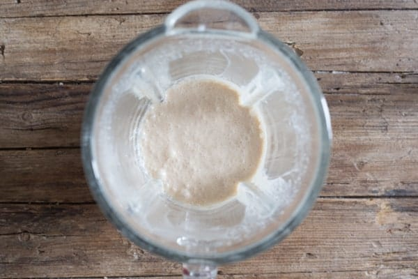 blended ingredients for pumpkin liqueur