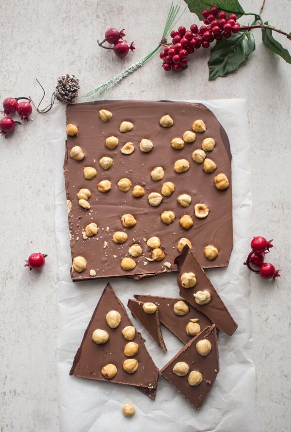 A Homemade Christmas Italian Triple Chocolate Bark recipe.White, Dark, Milk and an additional ingredient make this easy Bark a yummy treat.