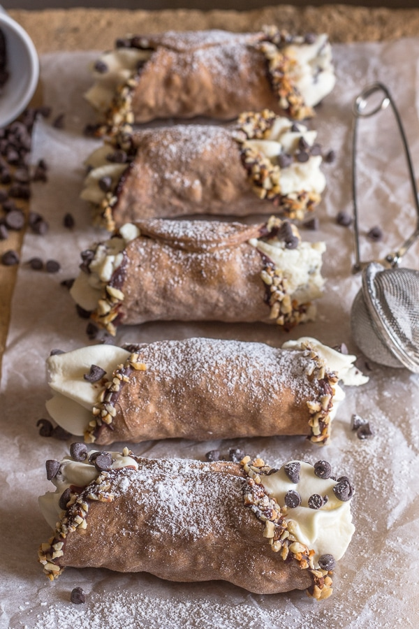 cannoli on a board