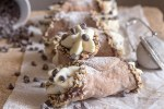 baked cannoli one on another