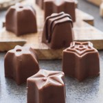 Homemade Chocolate Mint Filled Chocolates, an easy creamy Peppermint filled chocolate candy recipe. Candy molds make it fast and so yummy.