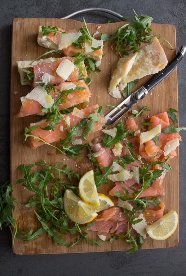 Smoked Salmon Rucola (Arugula) Appetizer