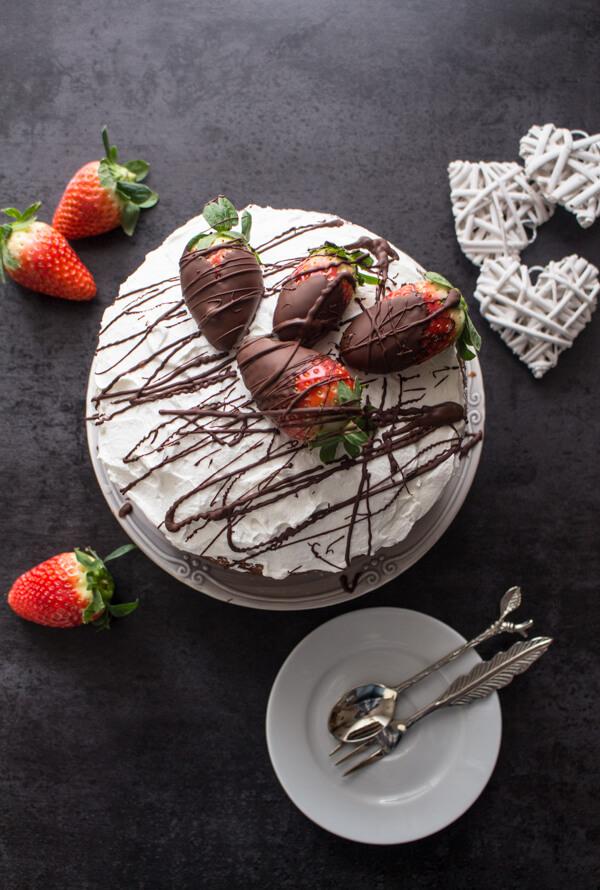 Strawberry Whipped Cream Vanilla Yogurt Cake An Italian