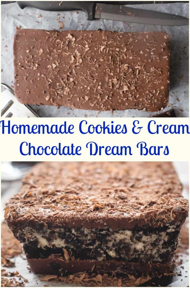 Homemade Cookies and Cream Chocolate Dream Bar - An Italian in my ...