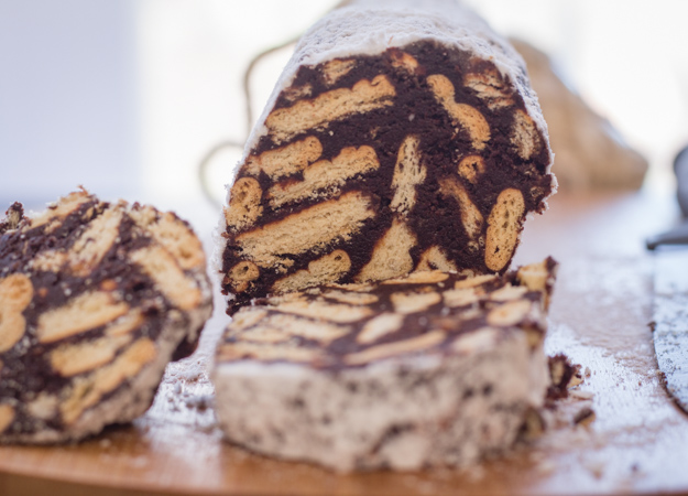Chocolate Salame a delicious Italian Chocolate recipe, a fast and easy no bake sweet. Snack or Dessert the perfect no bake treat.