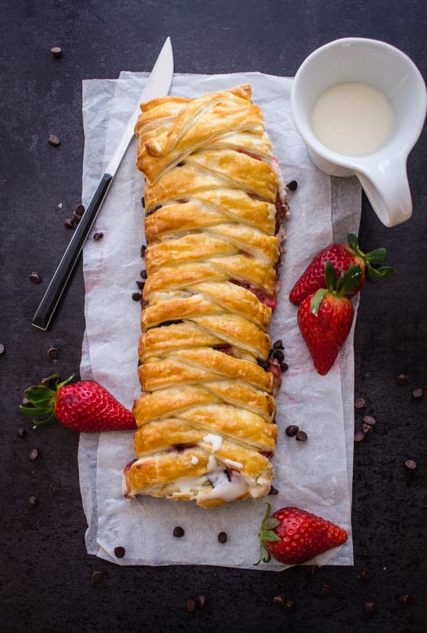 Strawberry Cream Cheese Strudel