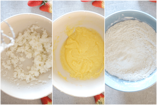 strawberry bread how to make mixing the batter,
