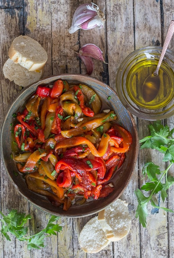 Italian Grilled Pepper Appetizer