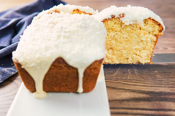 Creamy Vanilla Frosted Coconut Pound Cake An Italian In