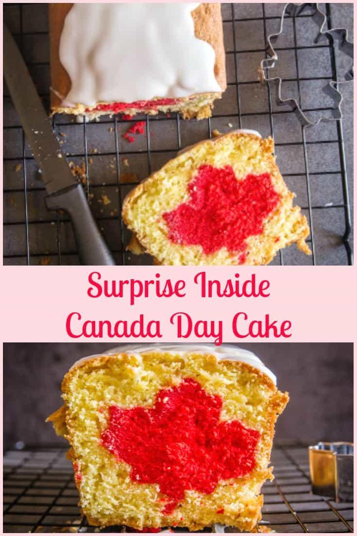 Surprise Inside Canada Day Cake Canada150 An Italian In