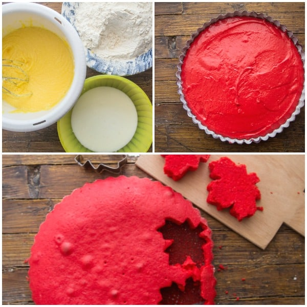 how to make surprise inside canada day cake