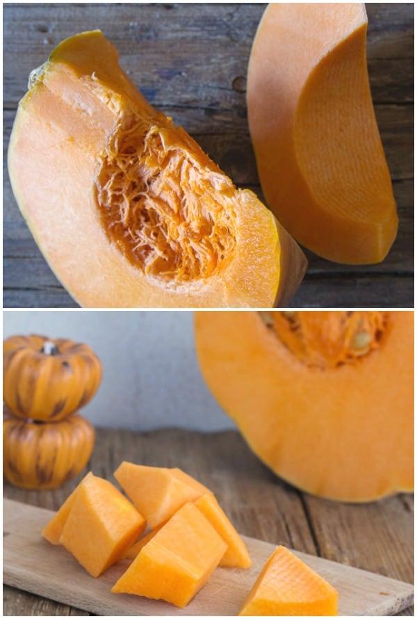 easy homemade pumpkin puree pieces of pumpkin
