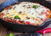 baked cast iron skillet pizza