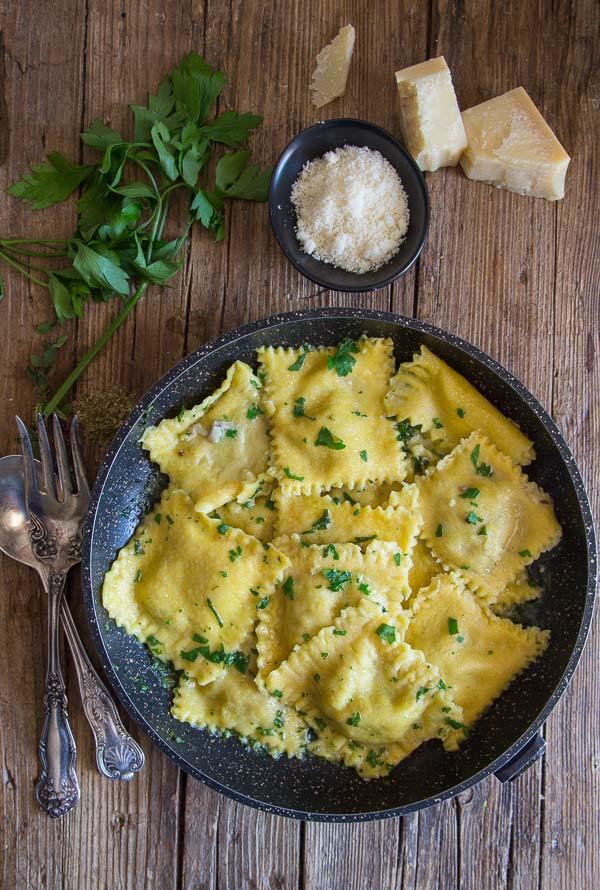 Homemade Creamy Mushroom Ravioli An Italian In My Kitchen