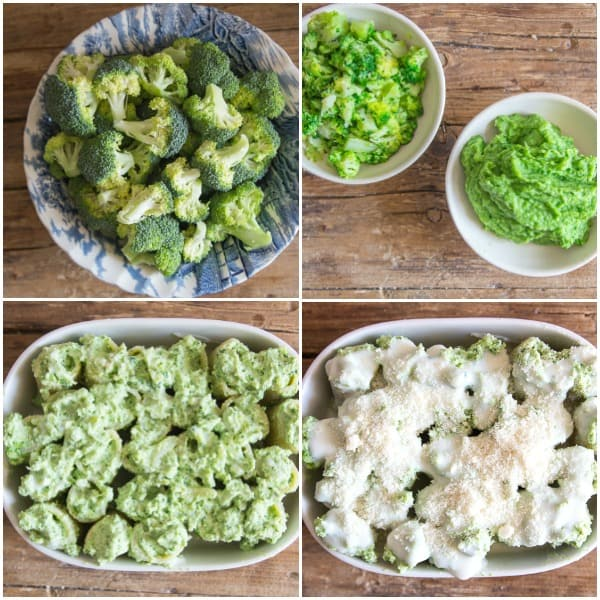 4 how to make baked paccheri raw broccoli, cooked, with ricotta and stuffed paccheri