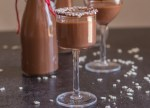2 bottles and 2 glasses of Nutella liqueur