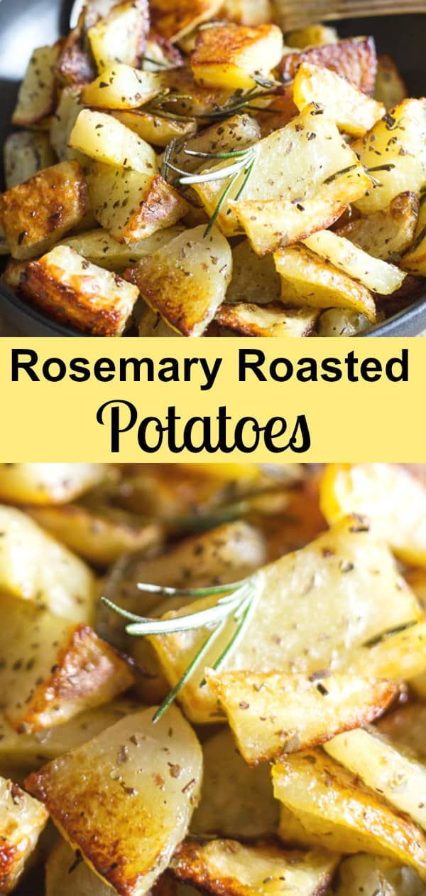 Rosemary Roasted Potatoes are a delicious and easy potato recipe.   A few simple ingredients make these roasted the potatoes the best side dish you will taste. The perfect accompaniment for any main course. #side dish #potatoes #roastedpotatoes #rosemarypotatoes #Italianrecipe