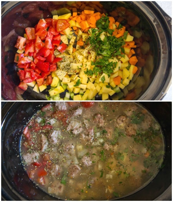 how to make Italian meatball soup photos