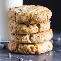 4 peanut butter cookies stacked