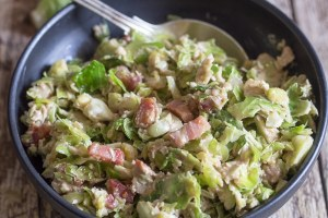 upclose brussel sprout salad