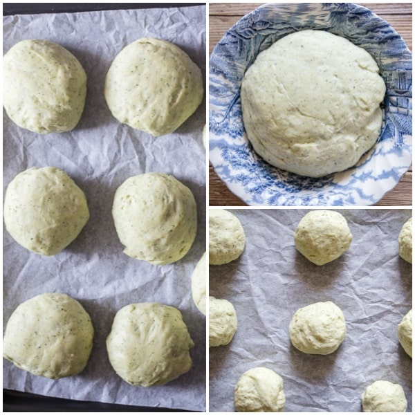 how to make dinner rolls dough risen, dinner rolls before and after rising