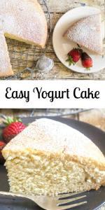 A super easy healthy Greek yogurt cake recipe, delicious and moist, strawberry, blueberry you decide, Greek yogurt or non! Easy Yogurt Cake. #yogurtcake #cake #Italiancakerecipe #cakerecipe #easycake #yogurt #moistcake #breakfastcake