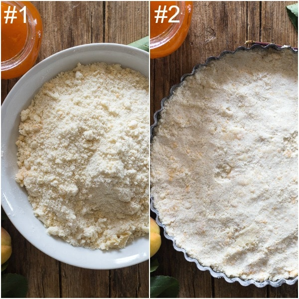 crumb pie, how to make crumbs and in the pie plate